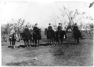 Primary view of object titled 'Women riding horses, Sweetwater, Texas'.