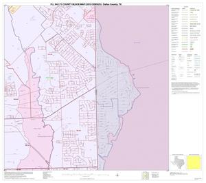 Primary view of object titled 'P.L. 94-171 County Block Map (2010 Census): Dallas County, Block 18'.