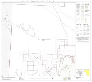 Primary view of object titled 'P.L. 94-171 County Block Map (2010 Census): El Paso County, Block 19'.