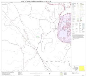 Primary view of object titled 'P.L. 94-171 County Block Map (2010 Census): Llano County, Block 14'.