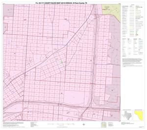 Primary view of object titled 'P.L. 94-171 County Block Map (2010 Census): El Paso County, Inset G03'.