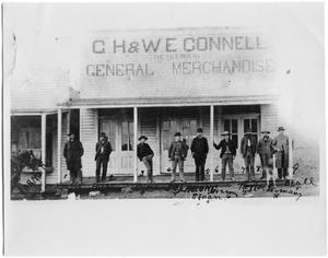 Primary view of object titled '[C.H & W.E Connel General Merchandise, 1882]'.