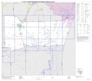 Primary view of object titled 'P.L. 94-171 County Block Map (2010 Census): Kleberg County, Index'.