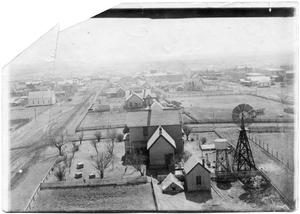 Primary view of object titled 'Aerial view of Sweetwater, Texas'.