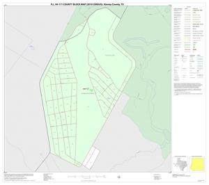 Primary view of object titled 'P.L. 94-171 County Block Map (2010 Census): Kinney County, Inset A01'.