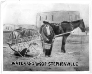"Primary view of object titled '[""Waterworks of Stephenville"", Unle Jim Mansker, 1870]'."