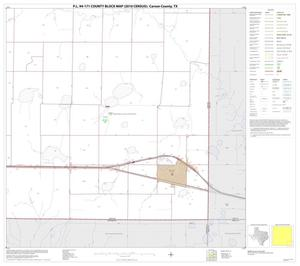 Primary view of object titled 'P.L. 94-171 County Block Map (2010 Census): Carson County, Block 16'.