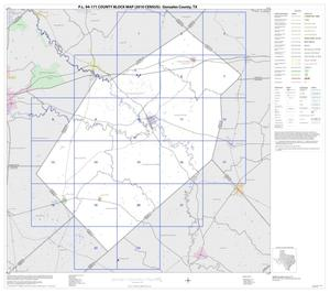 Primary view of object titled 'P.L. 94-171 County Block Map (2010 Census): Gonzales County, Index'.