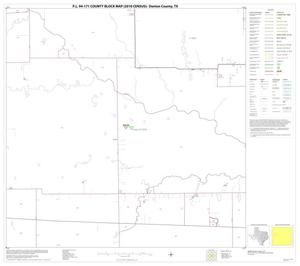 Primary view of object titled 'P.L. 94-171 County Block Map (2010 Census): Denton County, Block 32'.