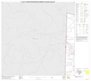 Primary view of object titled 'P.L. 94-171 County Block Map (2010 Census): Tom Green County, Block 1'.