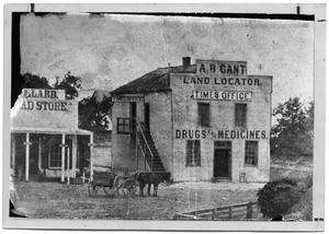 Primary view of object titled '[A.B. Gant Land Locator, 1868]'.