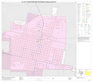 Primary view of object titled 'P.L. 94-171 County Block Map (2010 Census): Hardeman County, Inset B01'.