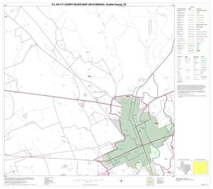 Primary view of object titled 'P.L. 94-171 County Block Map (2010 Census): Uvalde County, Block 21'.
