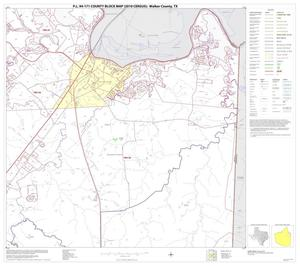 Primary view of object titled 'P.L. 94-171 County Block Map (2010 Census): Walker County, Block 10'.