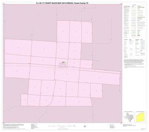 Primary view of object titled 'P.L. 94-171 County Block Map (2010 Census): Fannin County, Inset F01'.
