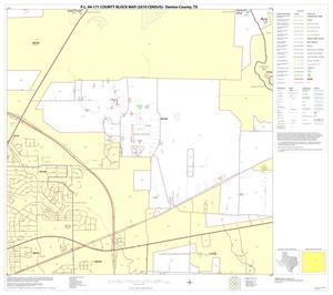 Primary view of object titled 'P.L. 94-171 County Block Map (2010 Census): Denton County, Block 36'.