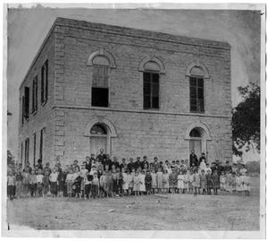 Primary view of object titled 'First Modern High School in Stephenville, Texas, 1886'.
