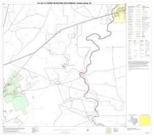 Primary view of object titled 'P.L. 94-171 County Block Map (2010 Census): Uvalde County, Block 22'.