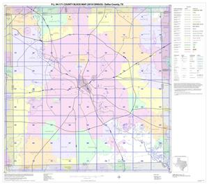 Primary view of object titled 'P.L. 94-171 County Block Map (2010 Census): Dallas County, Index'.