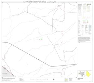 Primary view of object titled 'P.L. 94-171 County Block Map (2010 Census): Reeves County, Block 37'.