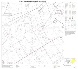 Primary view of object titled 'P.L. 94-171 County Block Map (2010 Census): Wilson County, Block 16'.