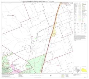 Primary view of object titled 'P.L. 94-171 County Block Map (2010 Census): Williamson County, Block 9'.