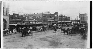 Primary view of object titled 'Fourth of July Parade, Stephenville, Texas, ca. 1890's'.