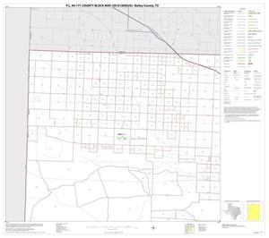 Primary view of object titled 'P.L. 94-171 County Block Map (2010 Census): Bailey County, Block 1'.
