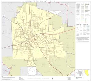 Primary view of object titled 'P.L. 94-171 County Block Map (2010 Census): Cherokee County, Inset D01'.