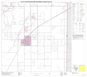 Primary view of object titled 'P.L. 94-171 County Block Map (2010 Census): Hansford County, Block 9'.