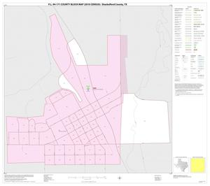 Primary view of object titled 'P.L. 94-171 County Block Map (2010 Census): Shackelford County, Inset B01'.