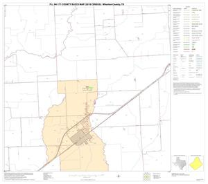 Primary view of object titled 'P.L. 94-171 County Block Map (2010 Census): Wharton County, Block 30'.