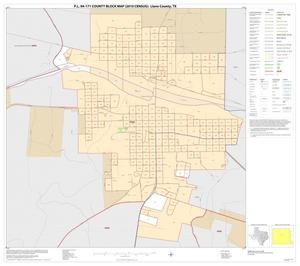 Primary view of object titled 'P.L. 94-171 County Block Map (2010 Census): Llano County, Inset B01'.
