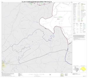 Primary view of object titled 'P.L. 94-171 County Block Map (2010 Census): Mills County, Block 14'.