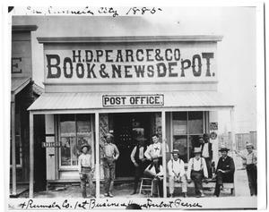 Primary view of object titled '[H.D. Pearce & Co. Book & News Depot]'.