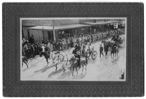 Primary view of object titled '[Parade for President Theodore Roosevelt]'.