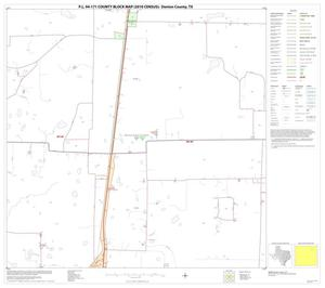 Primary view of object titled 'P.L. 94-171 County Block Map (2010 Census): Denton County, Block 18'.