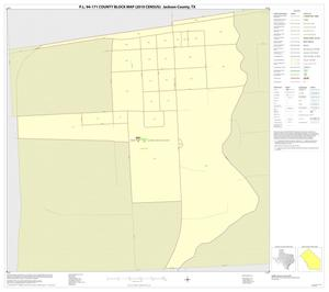 Primary view of object titled 'P.L. 94-171 County Block Map (2010 Census): Jackson County, Inset D01'.