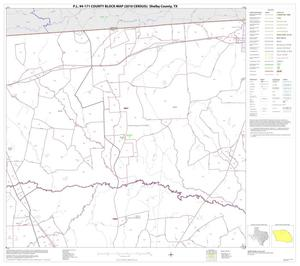 Primary view of object titled 'P.L. 94-171 County Block Map (2010 Census): Shelby County, Block 3'.