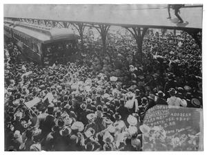Primary view of object titled '[Teddy Roosevelt Visits Fort Worth]'.