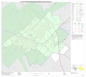 Primary view of object titled 'P.L. 94-171 County Block Map (2010 Census): Burleson County, Inset A01'.