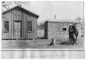 Primary view of object titled '[The Courthouse and Jail at Rising Star, Texas]'.