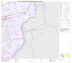 Primary view of object titled 'P.L. 94-171 County Block Map (2010 Census): Harris County, Block 208'.