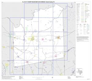 Primary view of object titled 'P.L. 94-171 County Block Map (2010 Census): Fannin County, Index'.