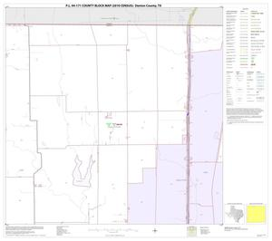 Primary view of object titled 'P.L. 94-171 County Block Map (2010 Census): Denton County, Block 4'.