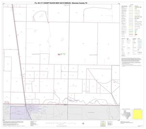 Primary view of object titled 'P.L. 94-171 County Block Map (2010 Census): Sherman County, Block 14'.