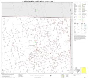 Primary view of object titled 'P.L. 94-171 County Block Map (2010 Census): Upton County, Block 3'.