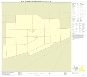Primary view of object titled 'P.L. 94-171 County Block Map (2010 Census): Gregg County, Inset B01'.