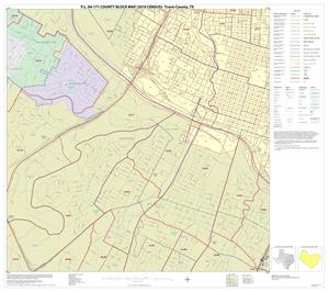 Primary view of object titled 'P.L. 94-171 County Block Map (2010 Census): Travis County, Inset I03'.