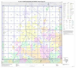 Primary view of object titled 'P.L. 94-171 County Block Map (2010 Census): Denton County, Index'.